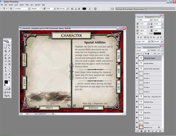 character and adventure card templates coming soon talisman