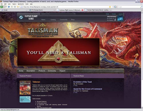 FFG Talisman Pages