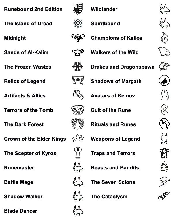 List Of Expansion Symbols Compile Here Runebound Ffg Community